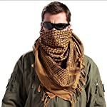FREE SOLDIER 100% Cotton Military Shemagh Tactical Desert Keffiyeh Head Neck Scarf Arab Wrap