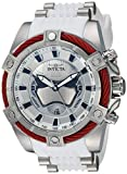 Invicta Men's Star Wars Stainless Steel Quartz Watch with Silicone Strap, White, 26.1 (Model: 27213)