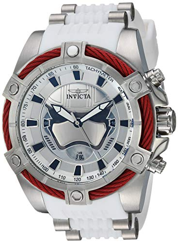 Invicta Men's Star Wars Stainless Steel Quartz Watch with Silicone Strap, White, 26.1 (Model: 27213)