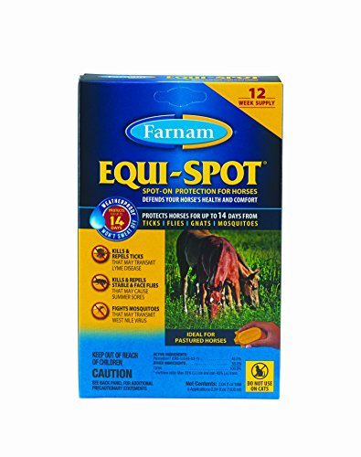 Farnam Equi-Spot Spot On Protection for Horses, 12-Week Supply with 6 (Equine Insect Spray)