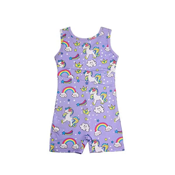 Marosoniy Leotards for Girls Bathing Suits for Kids Unicorn Gymnastics Leotard Rainbow Ballet Dance Sparkly Biketard Unitard Swimsuits One Piece 3