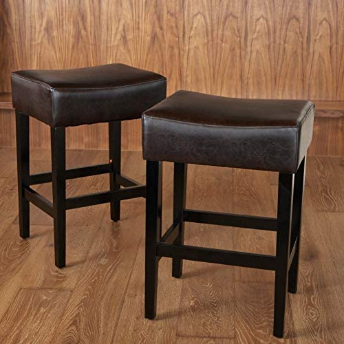 Christopher Knight Home Lopez Backless Leather Counter Stool