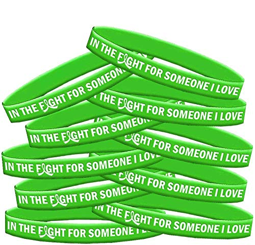 - in The Fight for Someone I Love Lymphoma Muscular Dystrophy Wristband Bracelet 10-Pack (Lime Green)
