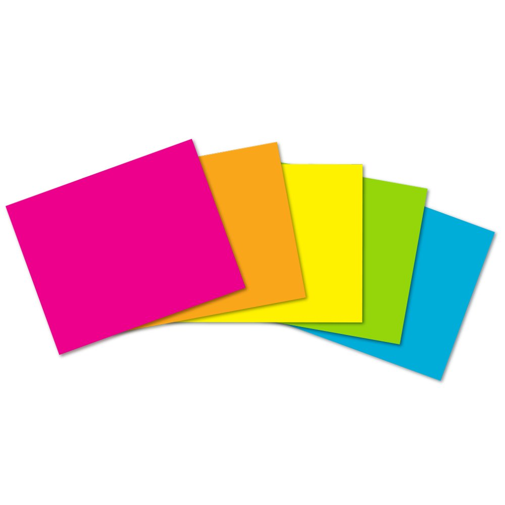 11 x 14 ArtSkills Neon Poster Boards PA-1507 5-Pack Assorted Colors