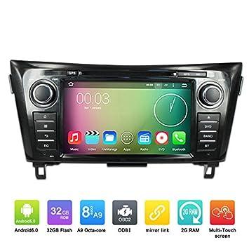 8 pulgadas Octa Core 1024 * 600 Android 6.0 coche reproductor de DVD GPS navegación Multimedia estéreo para Nissan X-Trail para radio control de volante con ...