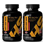 anti-aging power - ANTI GRAY HAIR - NATURAL FORMULA - saw palmetto for hair loss - 2 Bottles (120 Capsules)