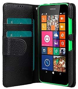 Melkco 4895158698676 estamosmapeando-iibro tipo PU Funda de cuero artificial Mini para Nokia Lumia 635 negro