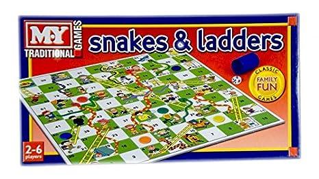 Serpientes y Escaleras juego de mesa tradicional Juego de los niños: Amazon.es: Juguetes y juegos