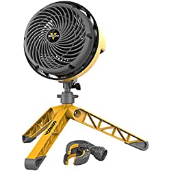 Vornado EXO5 Heavy-Duty Shop Air Circulator Fan with High-Impact Housing, Collapsible Tripod Base, Clamp Attachment