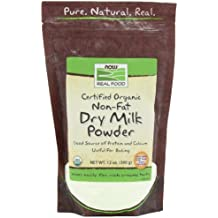 NOW Foods Non Fat Dry Milk Powder Organic, 12-Ounce (Pack of 2)