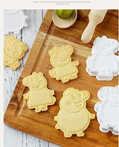 juego de 6 piezas 3D para tarta de cumplea/ños Cake Peppa Pig Moldes con forma de galletas