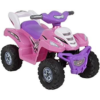 Best Choice Products Kids ATV 6V Quad Battery Power Electric 4 Wheel Power Bicycle Ride On, Pink