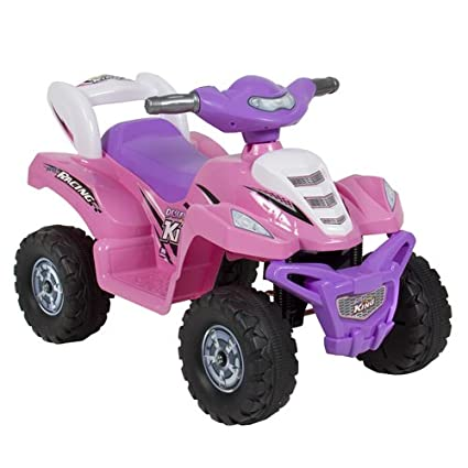 08f247823fd Amazon.com  Best Choice Products Kids 6V Battery-Powered Electric Toy ATV  Ride-On Quad Car w  4-Wheel Power Steering - Pink  Toys   Games
