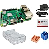 Raspberry Pi3 Model B+ 技適対応ベーシックセット(基板・3B,3B+両対応クリアケース・ヒートシンク・USB電源アダプタ 5V/3A 1.5m)