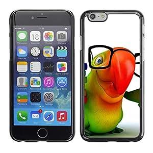 PC/Aluminum Funda Carcasa protectora para Apple Iphone 6 Cute Friendly Parrot / JUSTGO PHONE PROTECTOR