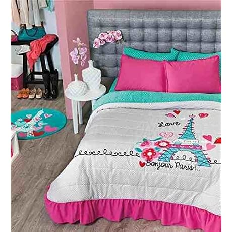NEW Paris Teens Bedspread Set Sheet Set And Window Curtains Twin By Kitty4u