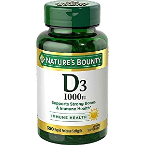 Gut Health Shop 515yT2UbxBL._SS300_ Vitamin D3 by Nature's Bounty for immune support. Vitamin D3 provides immune support and promotes healthy bones. 1000IU…