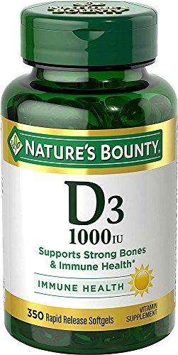 Vitamin D3 by Nature's Bounty for immune support. Vitamin D3 provides immune support and promotes healthy bones. 1000IU…