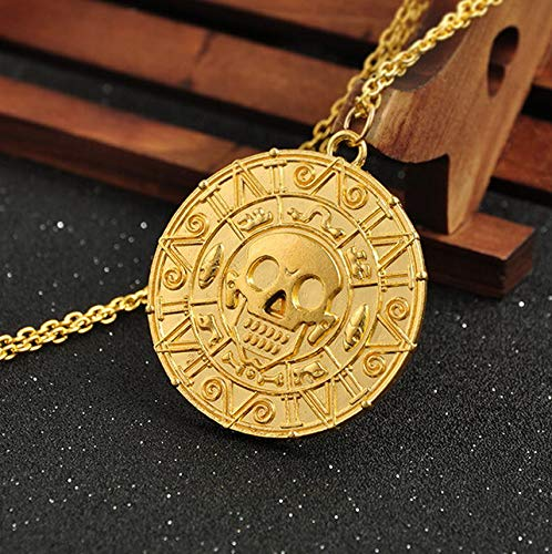 Mikash Hot Pirate of The Caribbean Cursed Aztec Coin Medallion Pendant Fashion Necklace | Model NCKLCS - 39422 |