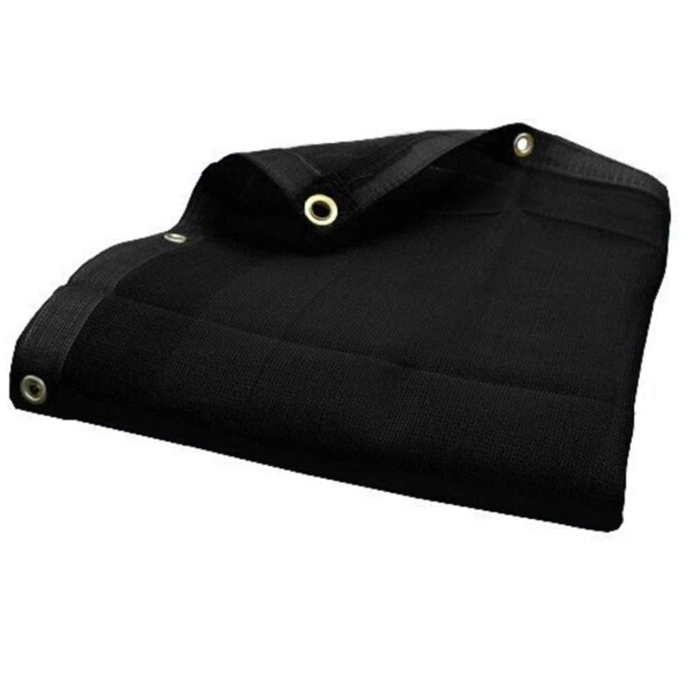 noir 0.5X1m LXHONG Filet D'ombrage Filet De Camouflage Filet D'ombrage Trou en Métal Prougeection Contre Les Ombres Cryptage Noir Pliable Polyester, Taille 17 (Couleur   noir, Taille   3X5m)