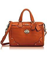 Coach Rhyder Mini Satchel in Leather Coral / Orange 33690