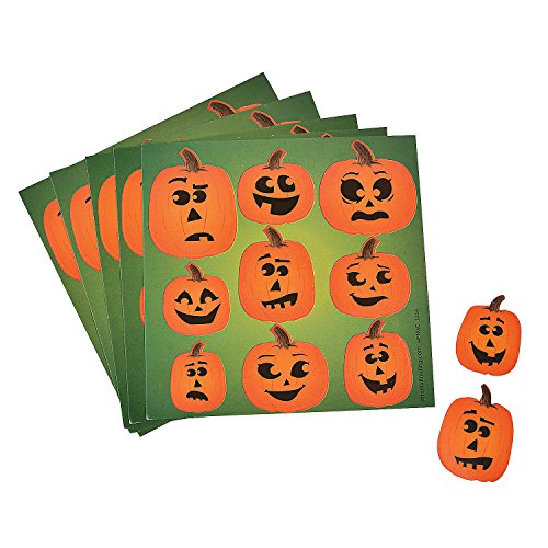 Halloween Jack-O-Lantern Party Favor Sticker Sheets - 50 sheets