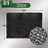 vensovo 50% Sunblock Shade Cloth Net Black