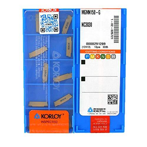 Carus Tool KORLOY MGMN250-G NC3030 Carbide Inserts CNC Tool 10Pcs//Box