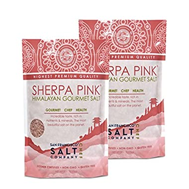 Sherpa Pink Authentic Himalayan Coarse Salt (4lbs (Qty 2, 2lb bags))