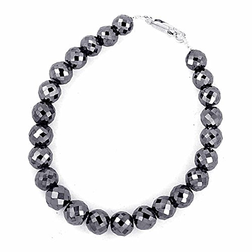 Skyjewels 10mm Certified Black Diamond Men's Bracelet With White Gold,Black Gold Clasp by skyjewels