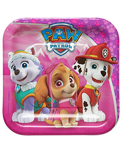 American Greetings Paw Patrol Party Supplies Disposable Paper Dessert Plates, 40-Count