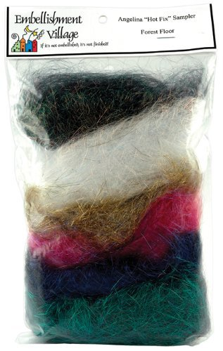 Embellishment Village Angelina Straight Cut Fibers, Forest Blend, 6-Pack by Embellishment Village