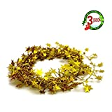 JINZAN 3PCS Star Garland Wire Garland Christmas Decorations Ornaments Party Accessory,25 Ft x 3 (Gold)