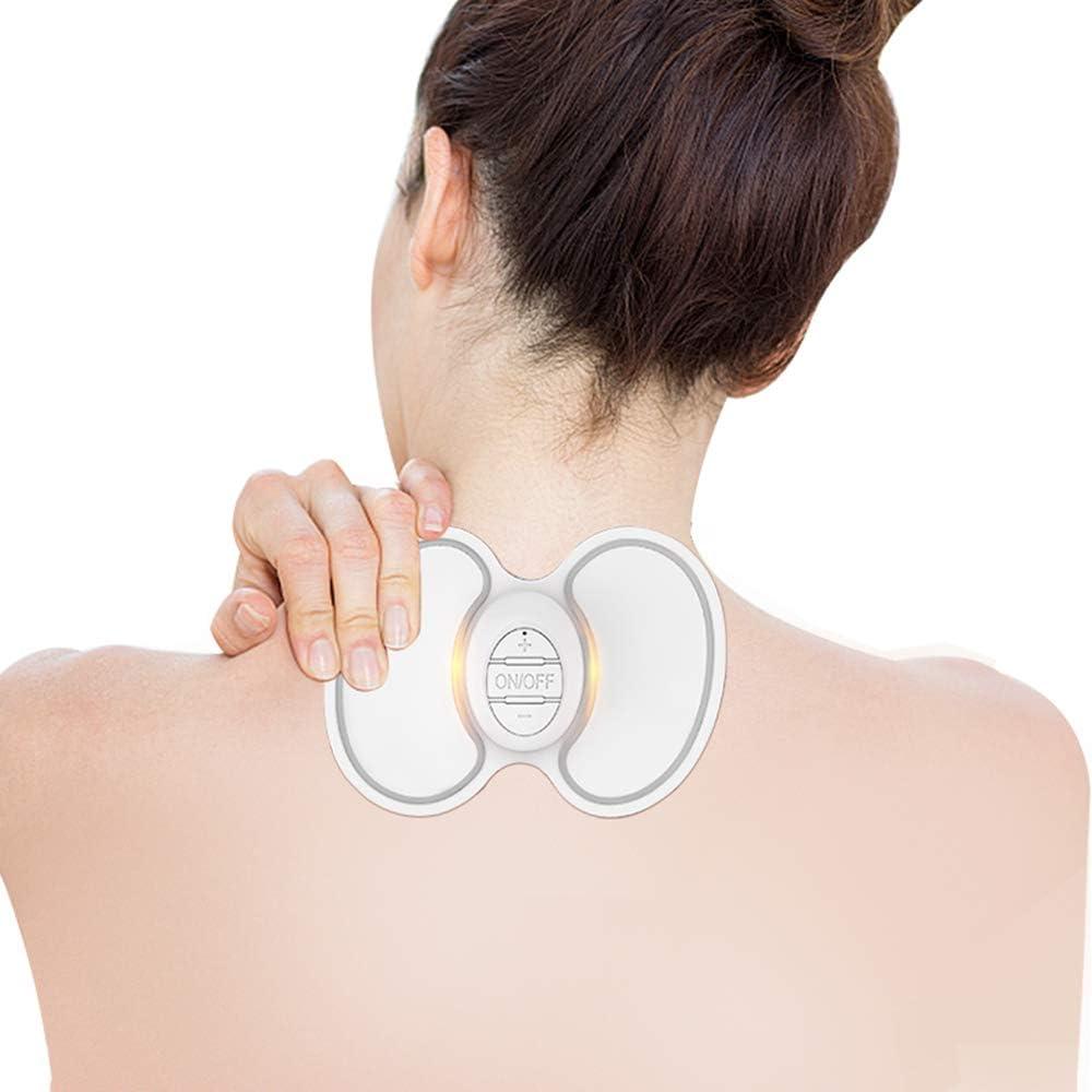 MLQ Pegatinas mágicas de Masaje para el Cuello, Carga USB, Alivio del estrés Cervical, Parche de masajeador multifunción, Punto de acupuntura, electroterapia, meridiano - Regalo del día del Padre