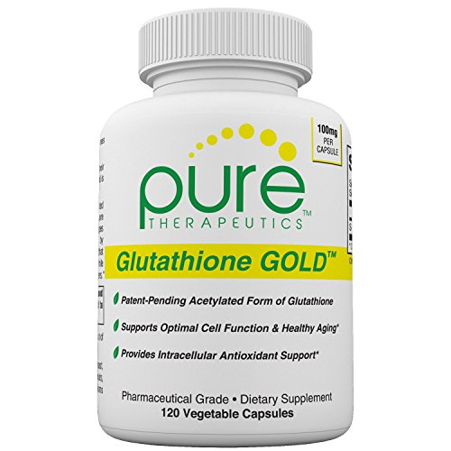 Glutathione GOLD - 120 Vcaps | 100mg S-Acetyl-Glutathione *PER CAPSULE * Perfect for Split Dosing (2/4 Month Supply) | Patented Acetylated Form of Glutathione | Supports Antioxidant Activity