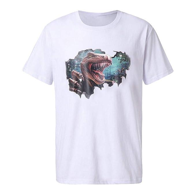 De Cuello Camisetas Para Sylar Hombre Cortas Nuevo Redondo Manga Oknw0P