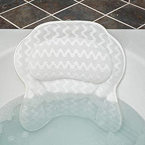 YXHMJP サクションカップ付き3Dバース枕、人間工学に基づいて設計浴槽ジャグジーソフトヘッドレスト、頭頸部バックショルダーサポート、ホームスパバブルバス、