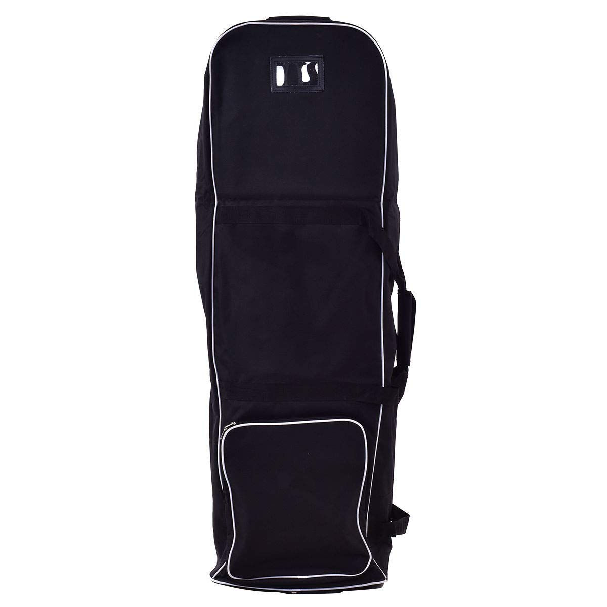 Globe House Products GHP 47.5''x15.5''x11'' 600D Oxford Cloth Foldable Golf Bag Travel Cover w 2 Wheels & Foam