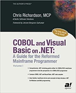 Book COBOL and Visual Basic on .NET: A Guide for the Reformed Mainframe Programmer 1st edition by Chris L. Richardson (2003)