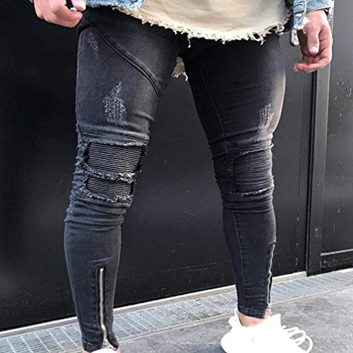 Fori Qk Decorazione Stretch Da lannister Denim Jeans Ruggine Strappati 1842 Matita A Color Casual In Stropicciatura Uomo Con Pantaloni Lavati Chiusura Ragazzo Dritta TrTqv1n