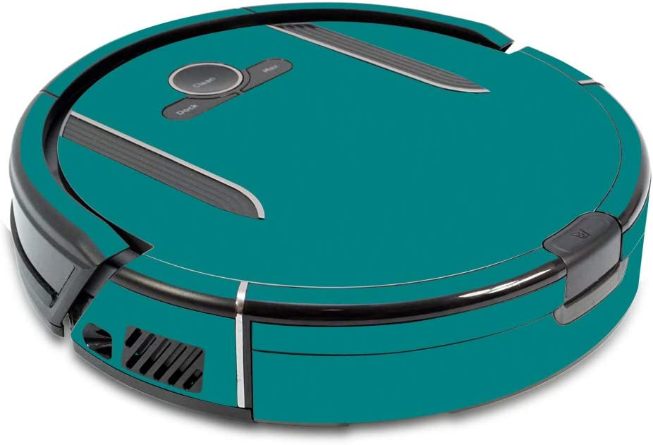 MightySkins Skin Compatible with Shark Ion Robot R85 Vacuum - Solid Teal   Protective, Durable, and Unique Vinyl Decal wrap Cover   Easy to Apply, Remove, and Change Styles   Made in The USA