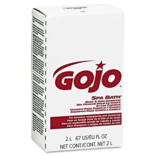 GOJO Spa Bath Body & Hair Shampoo – Pleasant Herbal Fragrance, 2000 mL Spa Bath Refill for GOJO NXT Dispenser (Case of 4) - 2252-04