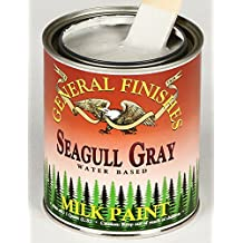 General Finishes Water Based Milk Paint Seagull Grey Quart