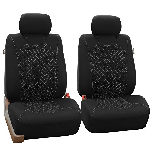black and white bucket seats - 4