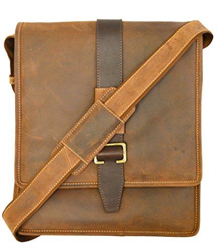 - Visconti 16159 Zoltan Medium Messenger Bag in Oiled Leather (Oil Tan)