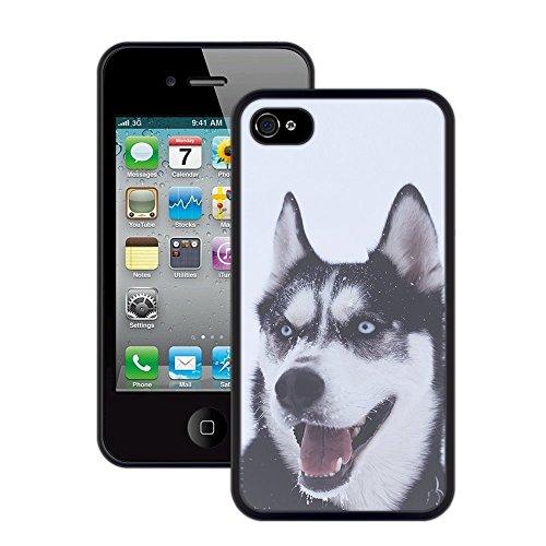Wolf | Handgefertigt | iPhone 4 4s | Schwarze Hülle