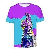 allenshopping T-Shirts Men Women Fortnite 3D Print Breathable Summer Short Sleeve Shirts Fitness Tee Tops T09 XS