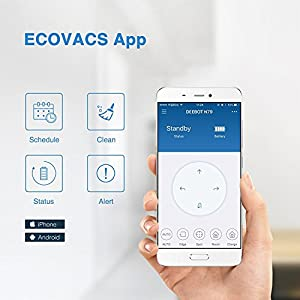 ECOVACS DEEBOT N79 [Upgraded Version] Robot Vacuum Cleaner with Upgraded Smart Motion Navigation, Improved 3-Tier Cleaning System, Smart Phone App Controls