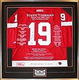 Steve Yzerman Framed Career Jersey - Signed - Ltd Ed 199 - Detroit Red Wings