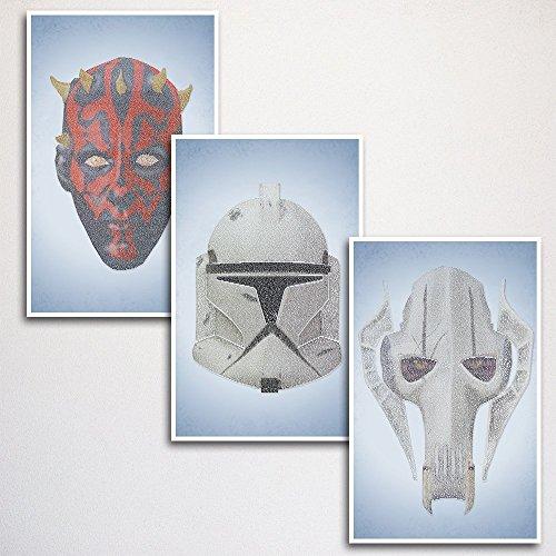 - Star Wars Episodes I-III Word Art Print Three Set 11x17